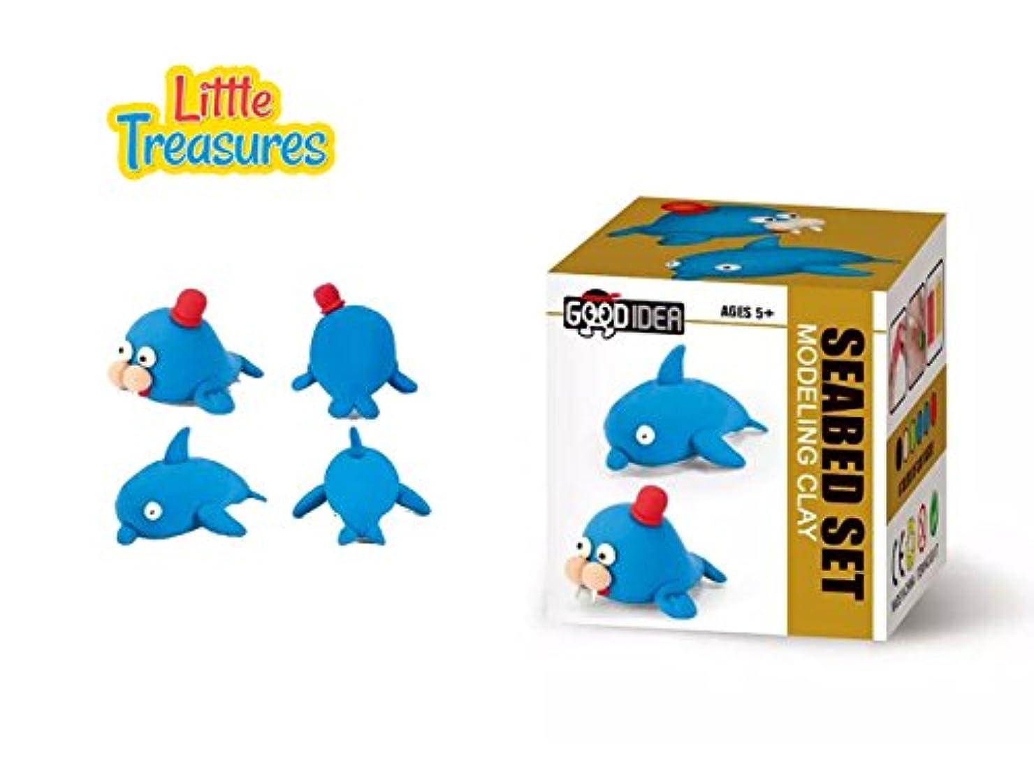 オーブン商業のテロリストMoulding play-dough kit 2-in-1 - create your 3D cute sea marine mammal make a dolphin or anything you can think of - fun arts & craft kid's artist toy project Clay modelling and sculpting DIY play-set