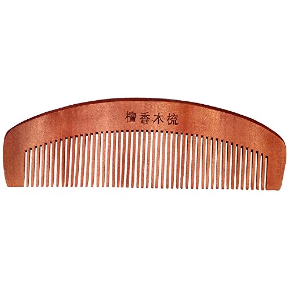 テザーラッドヤードキップリング型くし,SODIAL(R)コーヒー色の香りの良い天然木木製の髪ケア理髪くし5.7