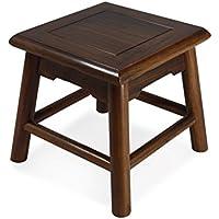 CSQ ポータブル小さなベンチ、子供のスクエアスツールガーデン靴ベンチとリビングルーム28 * 28 * 28CMヴィンテージの木製のベンチ 靴 (色 : B, サイズ さいず : 28 * 28 * 28CM)