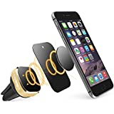 Universal Car Mount Holder, BasAcc Air Vent Magnetic Smartphone Mount-Car Phone Holder for iPhone X/XS /XS Max/XR/8 Plus/7, Galaxy S8 S8+ S9 S9+ Note 8 - Secure No Adhesive Residue Easy Installation