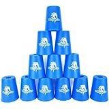 スポーツスタッキング専用 -Flying Cup- カップ12個セット (ブルー)[並行輸入品]