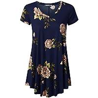 URBANCLEO Womens Short Sleeve Long Tunic Top T-Shirt Dress (Plus
