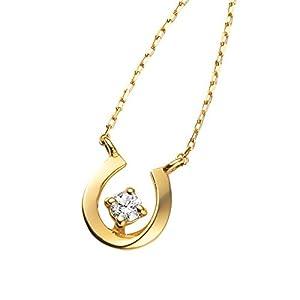 VAヴァンドーム青山 ダイヤモンド 0.04ct K10YG クリスマス限定 ハピネスシュー 馬蹄 ネックレス