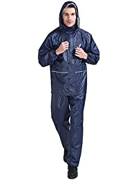 AN バイクレインコート二重層スーツ通気性と防雨性 (Color : Cyan, サイズ : M)