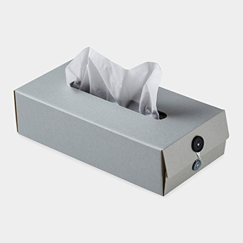 Button Tissue Box グレー