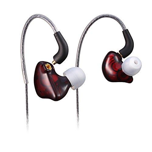 BASN se100Earbud Headphones with DetachableケーブルDeep Bassノイズキャンセリングイヤホンfor Apple iPhone iPad iPod Samsung Galaxy Phones ブラウン SE100brown