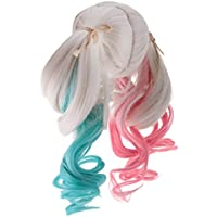Dovewill 人形用  ツインテールウィッグ  多色  巻き髪  かつら  超可愛い  ドール修理用  装飾