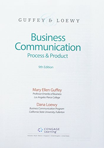 Download Business Communication: Process & Product 1337591971