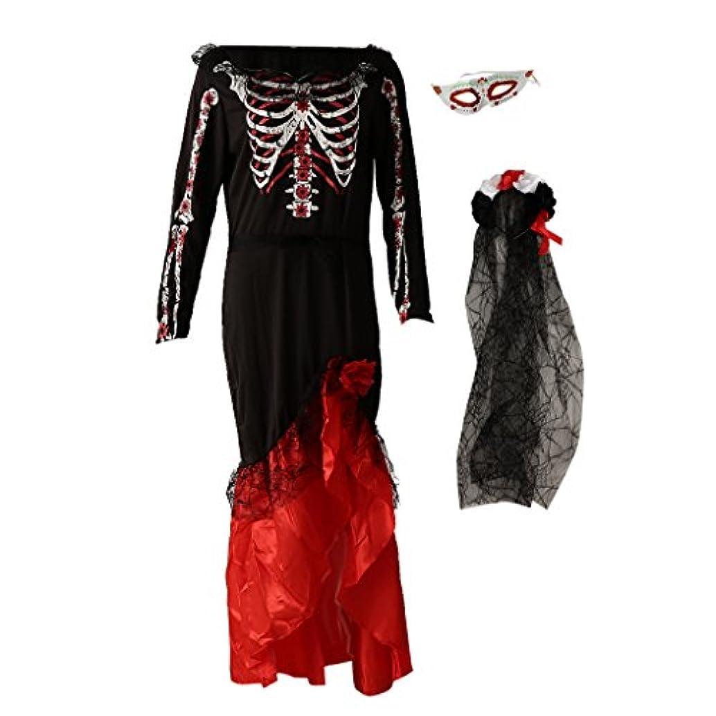 私たちのシュガー恒久的Perfeclan 1セット コスチューム用 ワンピース ドレス ハロウィーン 恐ろしい花嫁 衣装 パーティー 派手なドレス 5スタイル選べ - #5