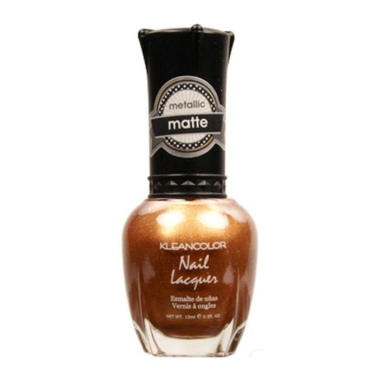 上謝る硬化する(3 Pack) KLEANCOLOR Matte Nail Lacquer - Life in Gold Castle (並行輸入品)