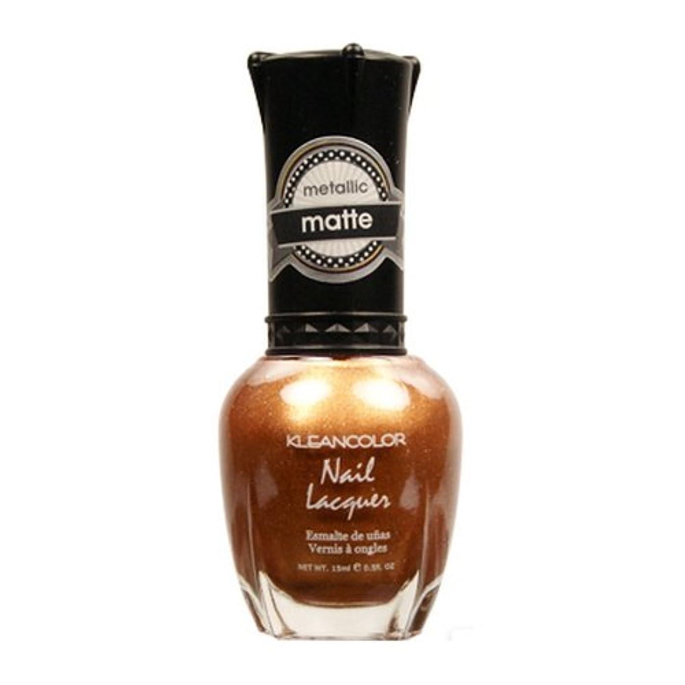 レバー置くためにパック狐(3 Pack) KLEANCOLOR Matte Nail Lacquer - Life in Gold Castle (並行輸入品)