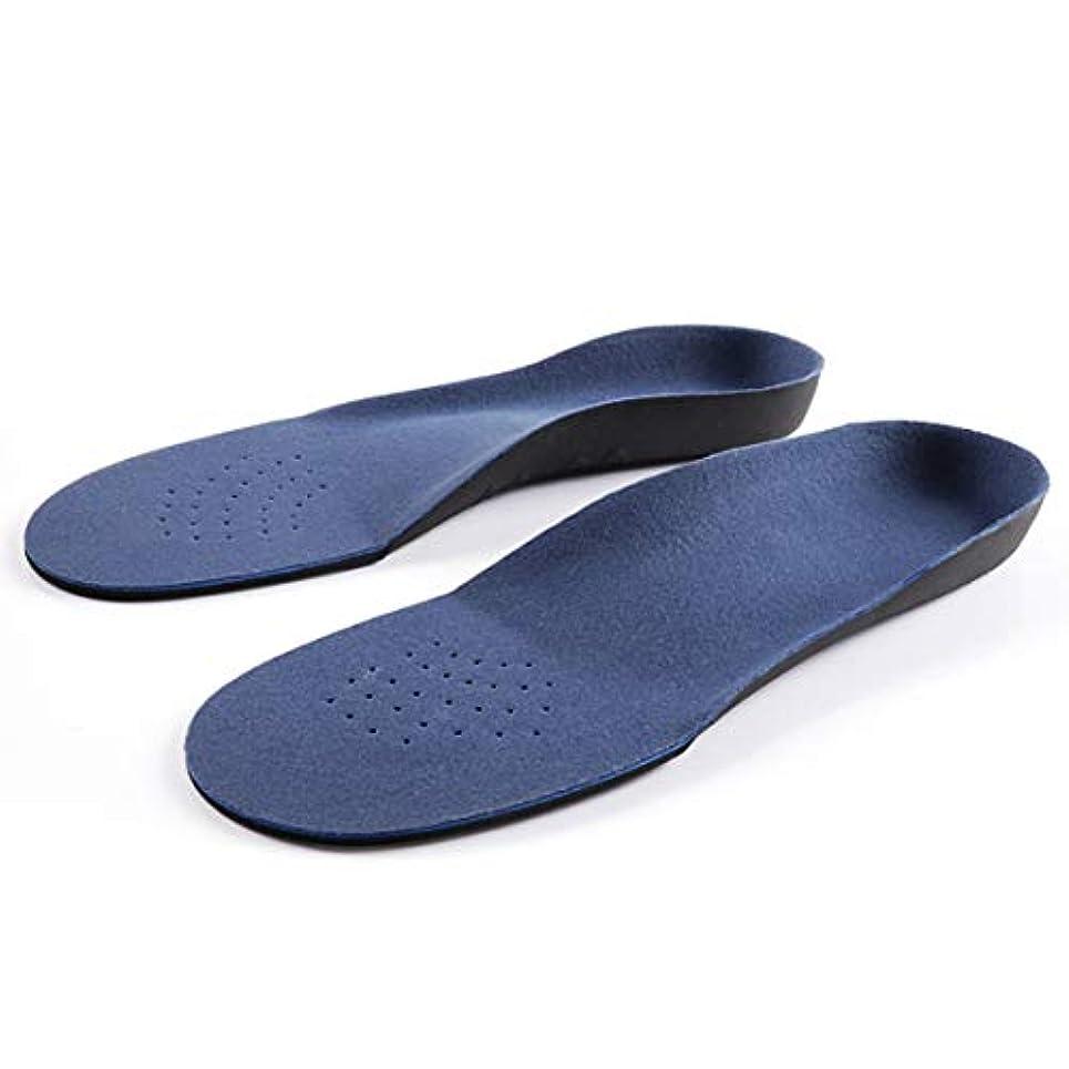 百科事典ミニチュア推定青い衝撃吸収材が付いているアーチサポート平らなフィートの整形外科のインソール-青
