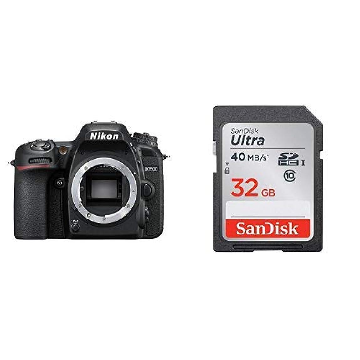 サーバ無限弁護人Nikon デジタル一眼レフカメラ D7500 ボディ + SanDisk ウルトラ SDHCカード 32GB Class6 UHS-I [エコパッケージ]