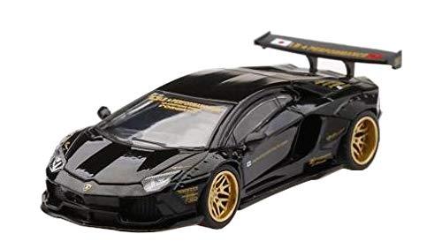 MINI GT 1/64 LB★WORKS ランボルギーニ アヴェンタドール ブラック 左ハンドル 完成品