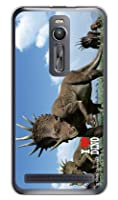 [ZenFone 2 ZE551ML/MVNOスマホ(SIMフリー端末)専用] スマートフォンケース Dinosaur Design 恐竜デザインシリーズ 「スティラコサウルスの群れ」 (クリア) 【光沢なし】 MASZF2-PCNT-214-SCO2