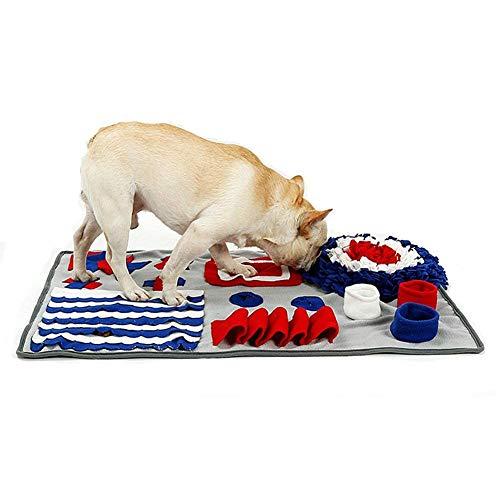 Petneces ペットおまちゃ 犬 猫 ノーズワーク 鼻づまり 餌マット 嗅覚活用 遊び場所 訓練毛布 集中力向上 性格改善 運動不足/ストレス解消 分離不安/食いちぎる対策 カラフル 全2種 (50x75cm, グレー)
