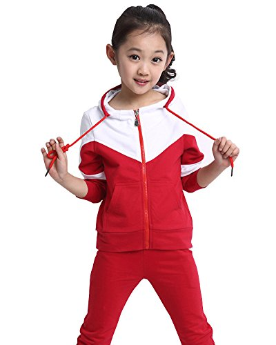 (Flora  )Froyland 저지 상하 소녀 사내 아이 아동복 키즈 스웨트 파커 셋업 룸 댄스 스포츠 웨어-