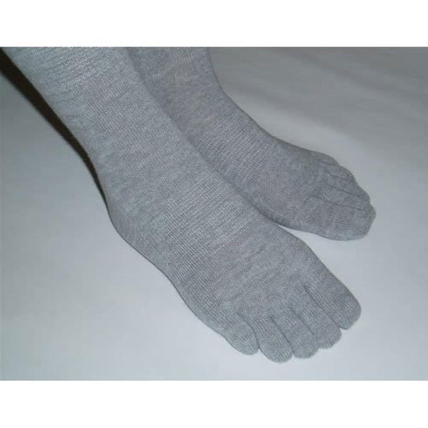 熱心な意義田舎5本指ソックス 婦人(22-24cm)サイズ 【炭の靴下】