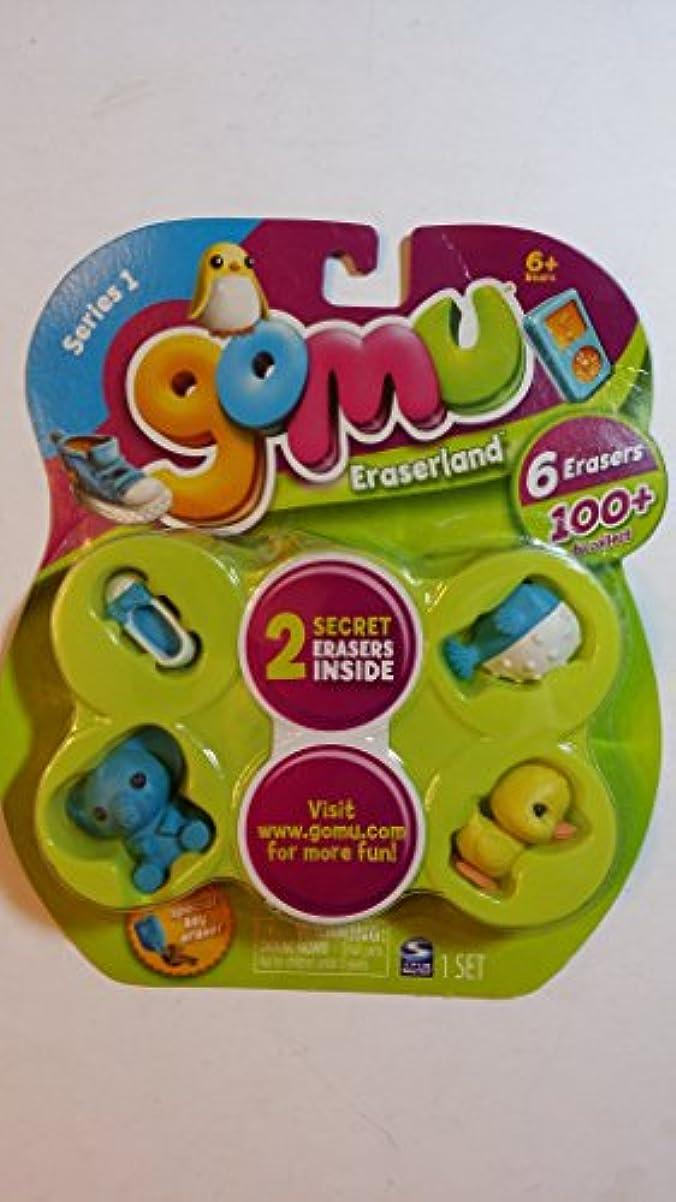 デマンド流行着服Gomu Eraserland Series 1 Erasers 6Pack