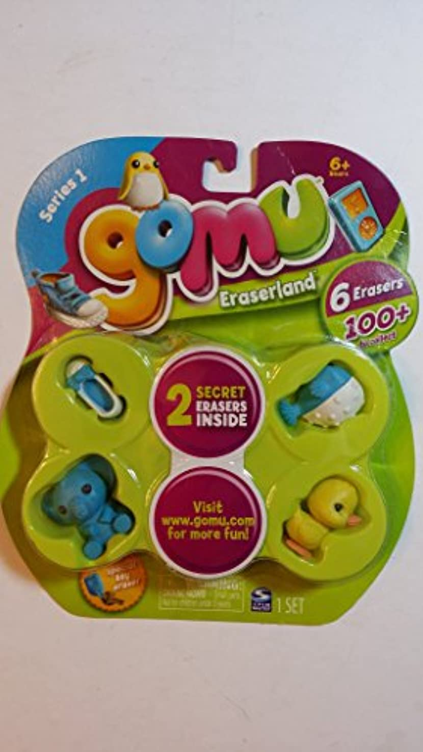 耐久会議暴力Gomu Eraserland Series 1 Erasers 6Pack