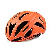 Gonex大人用超軽量 高剛性 自転車用 サイクリング ヘルメット 蒸れ防止 19個通気孔 オレンジ