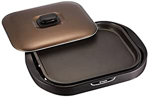 タイガー ホットプレート 「モウいちまい」 平面・焼肉プレート付き ブラウン CRC-B200-T