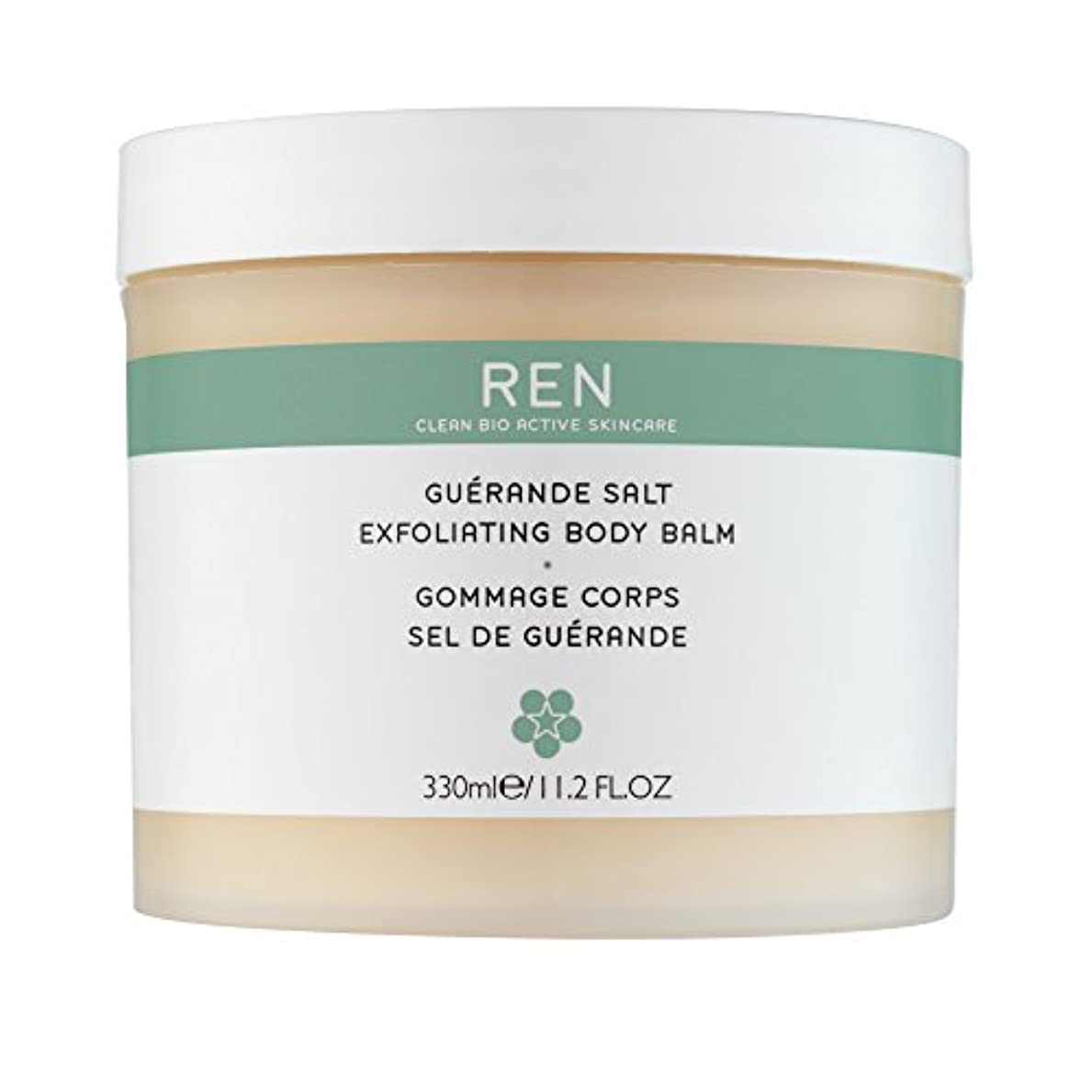 黒板プーノ実験Renゲランド塩の角質除去ボディバーム330ミリリットル (REN) (x6) - REN Guerande Salt Exfoliating Body Balm 330ml (Pack of 6) [並行輸入品]