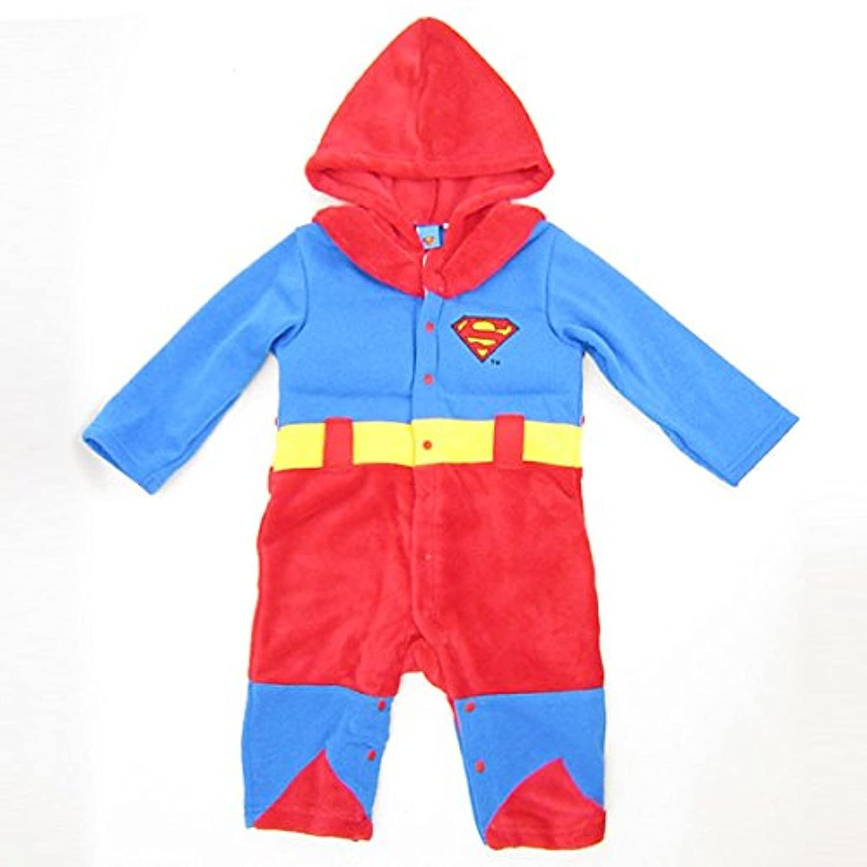 分割ボイラーヒゲクジラスーパーマン なりきり きぐるみカバーオール (コスチューム/ベビー服) 95cm (SUPERMAN) ベビー用品
