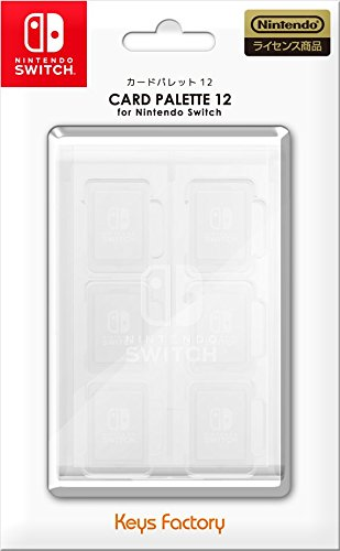 CARD PALETTE 12 for Nintendo Switch クリアホワイト