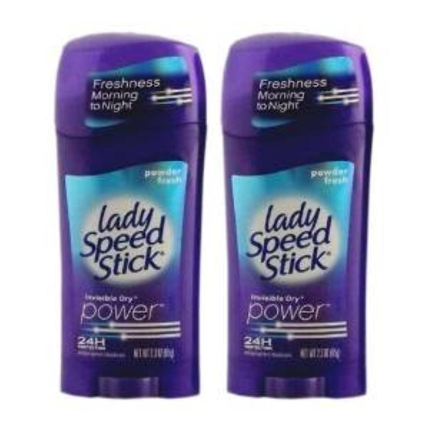 Lady Speed Stick パワー デオドラント(Powder Fresh) 2個 [並行輸入品]