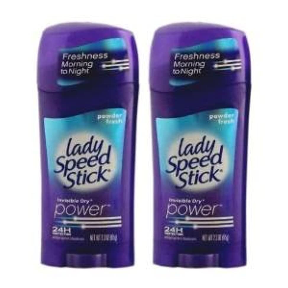民主主義住所海港Lady Speed Stick パワー デオドラント(Powder Fresh) 2個 [並行輸入品]