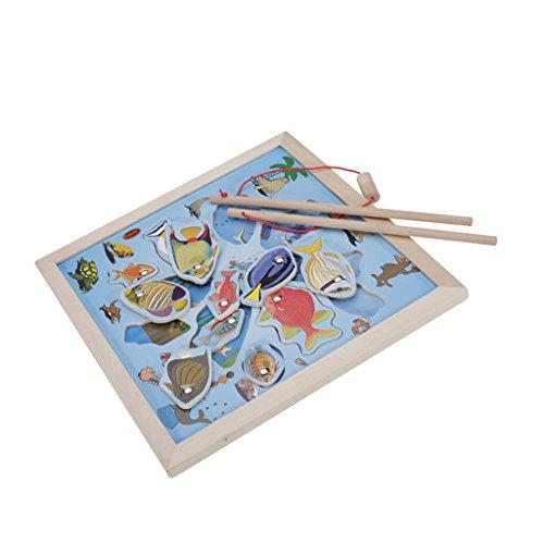 磁気 木製 釣り おもちゃ
