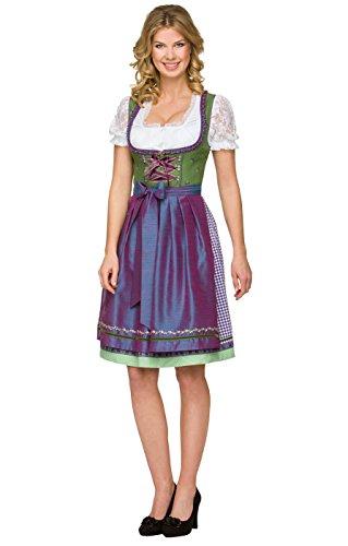 Stockerpointのチロリアン民族衣装 エプロン付きのディアンドルKIRSTEN スカート着丈60cm ギンガムチェック ビールガール メイド オクトーバーフェスト、紫色、サイズ42 [並行輸入品]