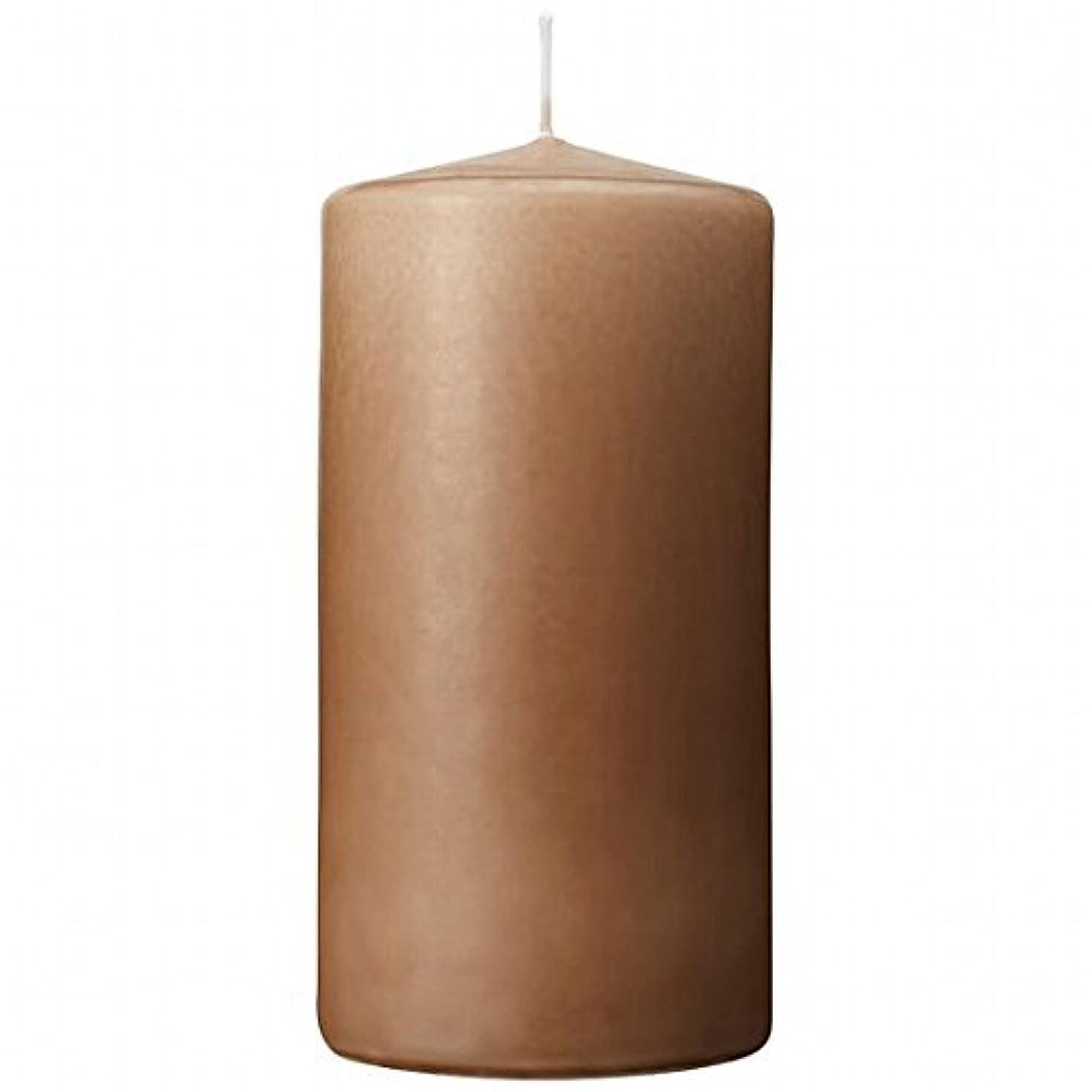 エキゾチック普通の証明書カメヤマキャンドル(kameyama candle) 3×6ベルトップピラーキャンドル 「 モカ 」
