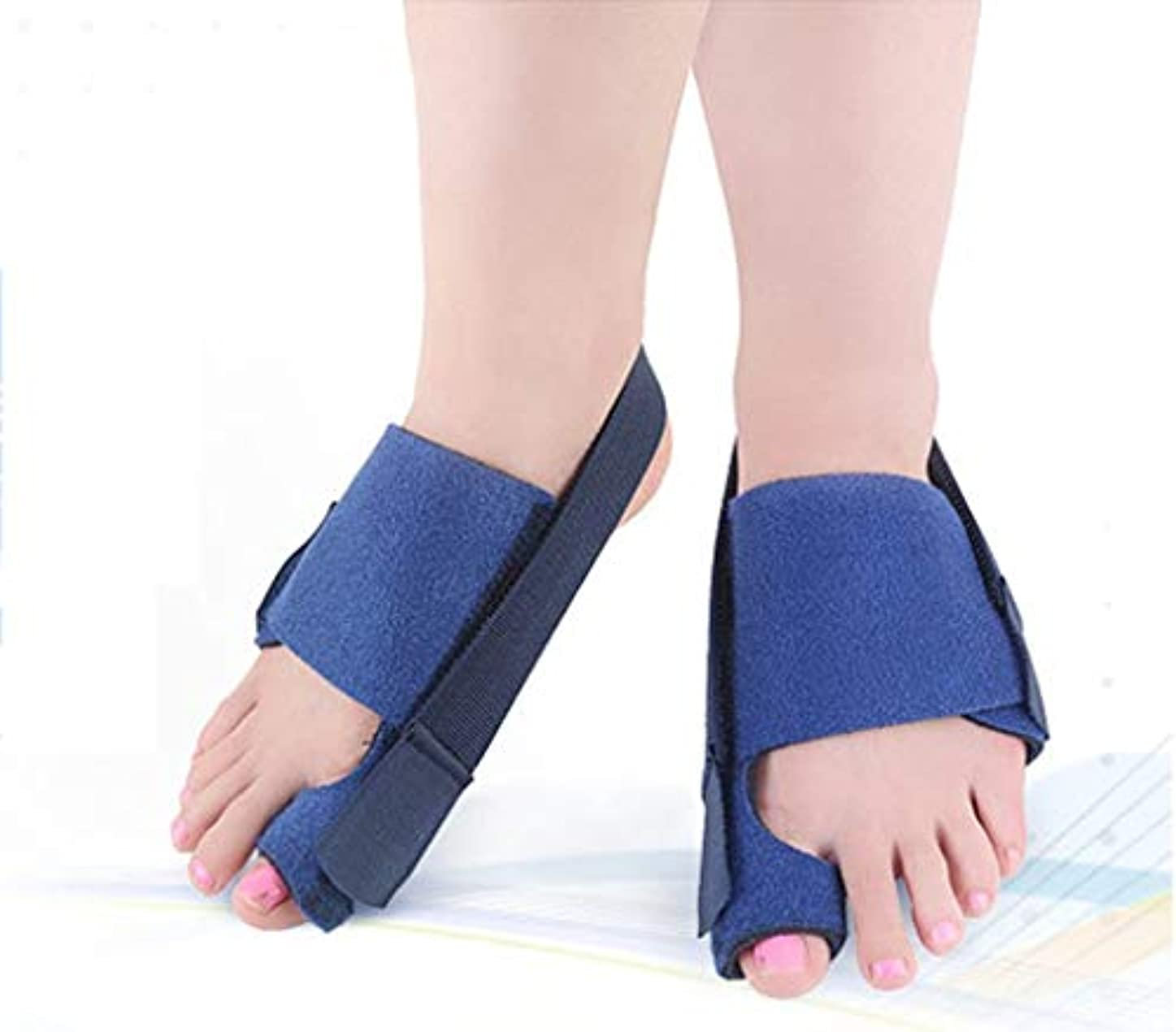 楕円形ずっととバニオンコレクター  - 整形外科用足首矯正ビッグトゥストレートナー - 外反母趾パッド用副木ブレース、関節痛の緩和、アライメント治療 - 整形外科用スリーブフットラップ