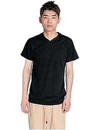 (イリショップ)ilishop Tシャツ メンズ トップス 運動用 吸水速幹 スポーツウエア ランニング 半袖 トレーニング シャツ 通気性  (ブラック)