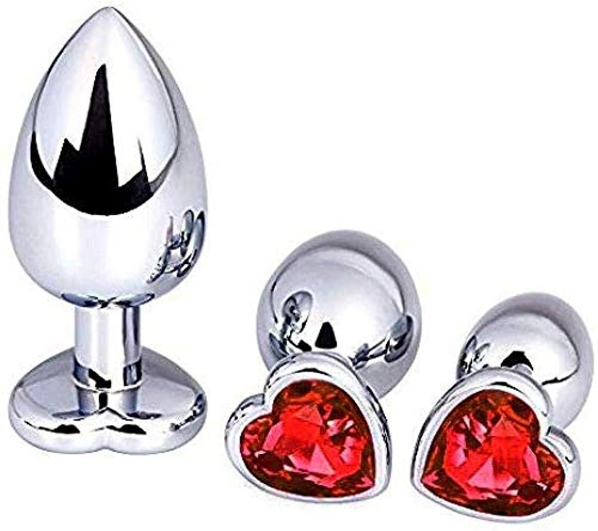 バインドすなわち祭司女性のカップルの男性の赤のための透明なクリスタルとアナルバットプラグ3個