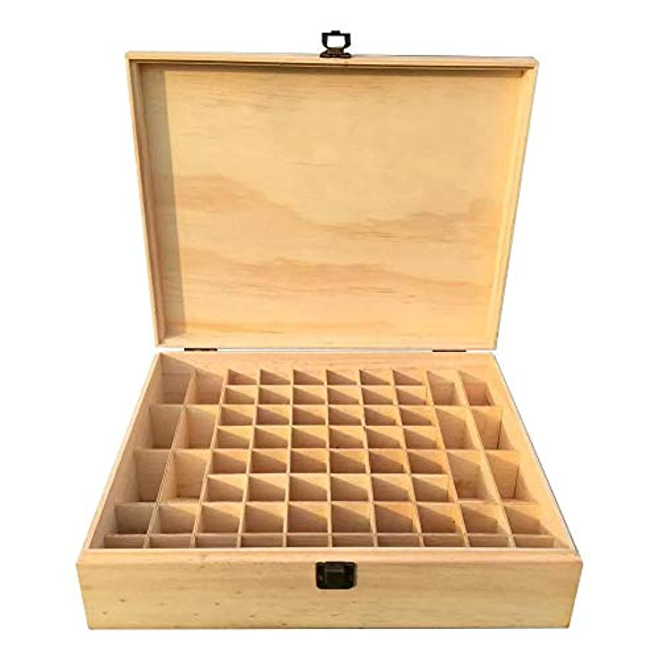 汚れた家加入木製エッセンシャルオイル収納ボックス 精油収納ケース 68グリッド 大容量 5~15MLボトル用 junexi