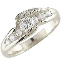 [アトラス] Atrus エンゲージリング ダイヤモンドリング ダイヤモンド リング ホワイトゴールドK18 K18WG 18金 指輪 8号 ボリューム感のあるダイヤモンドリング