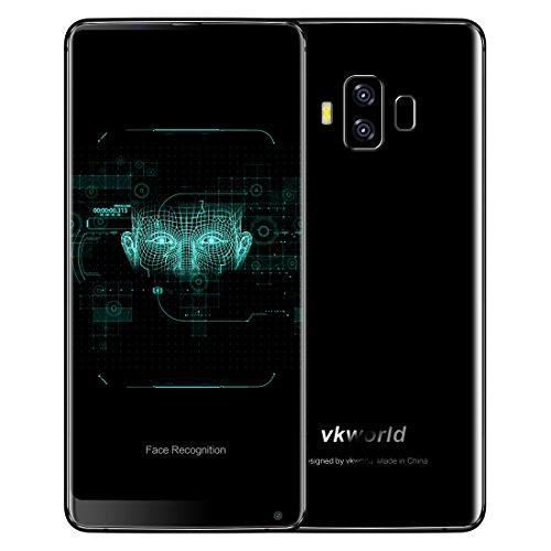 VKworld S8 4GB RAM+64GB ROM 4Gスマートフォン フェイス&指紋認識 5.99インチ Android 7.0 搭載 MTK6750T オクタコア 1.5GHz デュアルSIM + デュアルバックカメラ (ブラック)