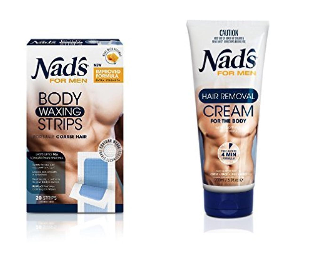 緩む委員会備品Nad's for Men Hair Removal (Cream + Strips (Combo)) [並行輸入品]