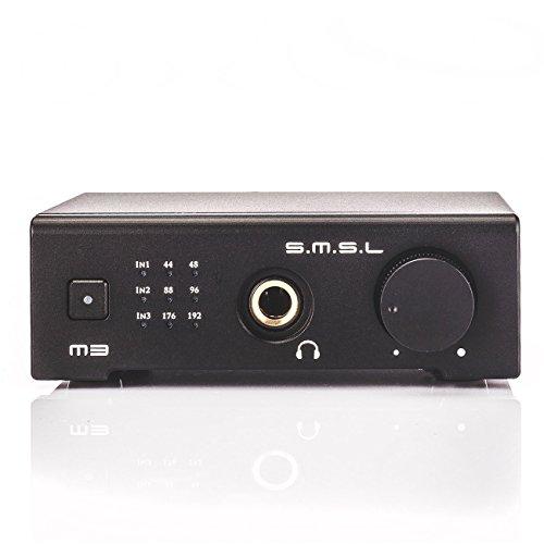 SMSL M3 HIFI ヘッドフォンアンプ デジタルアンプ USB DAC 据置型 光ファイバー 同軸 拭き布付き