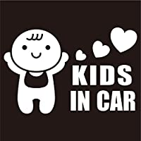 imoninn KIDS in car ステッカー 【パッケージ版】 No.10 赤ちゃん (白色)