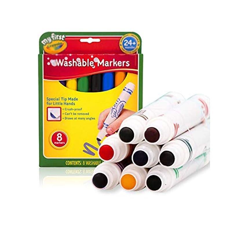 協力的モーテル情熱的Chenjinxiang001 ペイントブラシ、8色洗える厚いヘッド子供/大人利用可能な水彩ペン、丸い太いペン水滑らかなペイントツール(8色/ 16色/ 20色/ 50色、17 * 13 * 2 cm) 強い彩色 (Color : 8 colors, Size : 17*13*2cm)