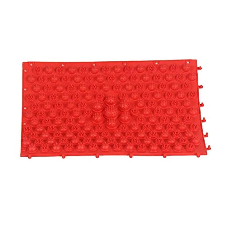 安息挑発する最小ROSENICE 足のマッサージマット血液循環指圧マットフィートヘルスケアマッサージプレート(赤)