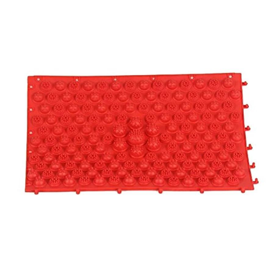 指定する晩餐部分的ROSENICE 足のマッサージマット血液循環指圧マットフィートヘルスケアマッサージプレート(赤)