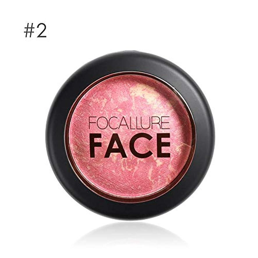 証明質素な教義Focallure 6色プロフェッショナル頬焼き赤面フェイス輪郭頬紅メイク - 2#