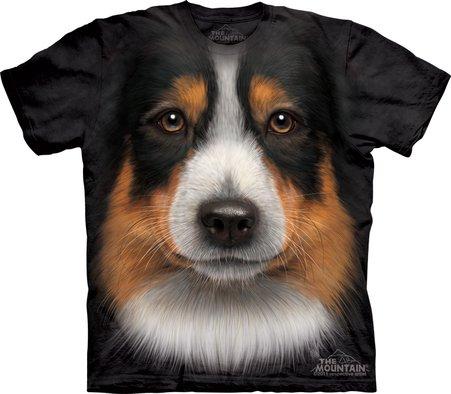 (ザ・マウンテン) The Mountain オーストラリアン シェパード ビッグフェイス Tシャツ M