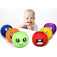 cinhent 1pcスーパーストレッチストレスボールスマイルすべての種類式面Squeeze Toyハンドボール(ランダムカラーandスタイル)