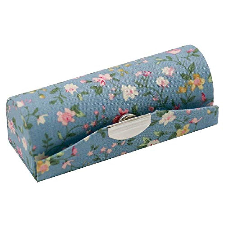 国勢調査クック弾薬C-Weiwei 和雑貨 かわいい 和小物 プレゼント 口紅ケース 母の日 さくら 桜 ギフト (Bブルー)